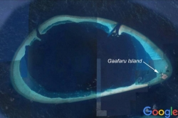 Maldives map - Gaafaru atoll