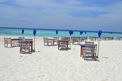 Beach chairs and tables